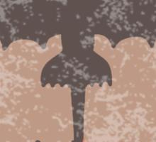 Distressed Night Fury Silhouette  Sticker