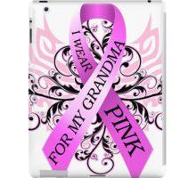 I Wear Pink For My Grandma (w) iPad Case/Skin