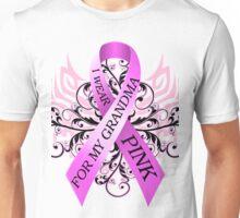 I Wear Pink For My Grandma (w) Unisex T-Shirt