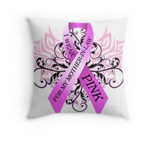 I Wear Pink For My Mother In Law Throw Pillow