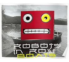 Robots in row boats  Poster