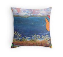Lands End, Magnolia, Seattle Throw Pillow
