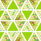Green Triangles (Pattern) by Didi Kasa
