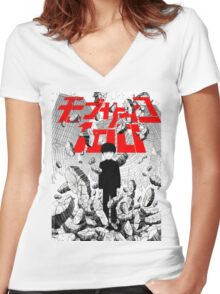 MOB PSYCHO 100 #06 Women's Fitted V-Neck T-Shirt