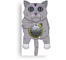The Cat holds the Time Canvas Print