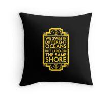 Different Oceans Throw Pillow