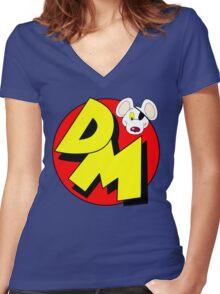 Danger Mouse Logo Women's Fitted V-Neck T-Shirt