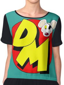 Danger Mouse Logo Chiffon Top