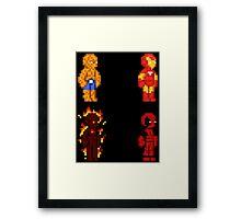 Marvel Pixel Heroes! Framed Print