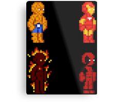 Marvel Pixel Heroes! Metal Print