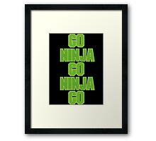 go ninja go ninja go! Framed Print