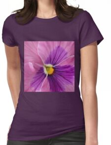 Pink Purple Pansy  Womens Fitted T-Shirt