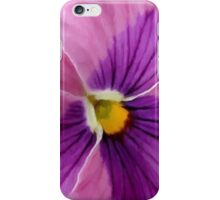 Pink Purple Pansy  iPhone Case/Skin