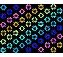 Trending Colors Floral Black Photographic Print