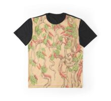 Salamanders in the Chilli Bush Graphic T-Shirt