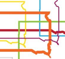 south dakota pride blur Sticker