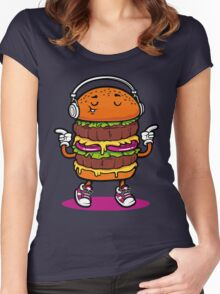 Dancing Burger Women's Fitted Scoop T-Shirt