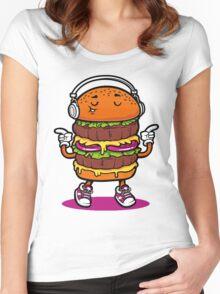 Dancing Burger Women's Fitted Scoop T-Shirt