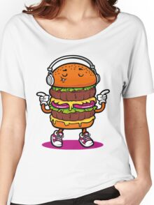 Dancing Burger Women's Relaxed Fit T-Shirt