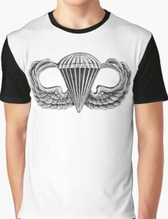 Army Parachute Wings Graphic T-Shirt