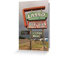 Lasso Motel Greeting Card
