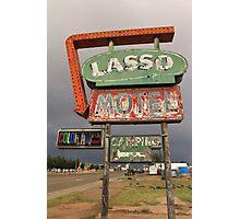 Lasso Motel Photographic Print