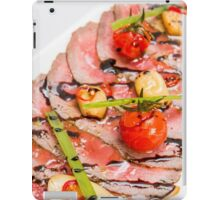 sliced Roast Beef on a plate  iPad Case/Skin