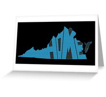 Virginia HOME state design Greeting Card