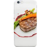 Fillet Steak medallion with vegetables on a plate  iPhone Case/Skin