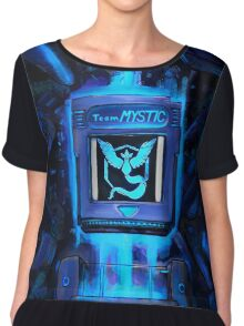 Pocket Power Go - Team Mystic Chiffon Top