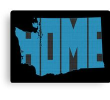 Washington HOME state design Canvas Print