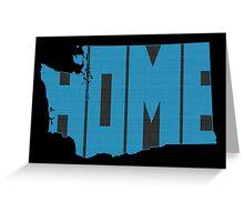 Washington HOME state design Greeting Card