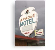 Apache Motel Metal Print