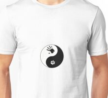 Small Feline Therian Ying/Yang Unisex T-Shirt