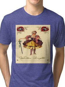 Vintage Valentine Thoughts Tri-blend T-Shirt