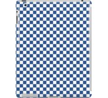 Delphinium Blue and White Classic Checkerboard Repeating Pattern iPad Case/Skin