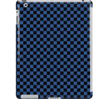 Delphinium Blue and Black Classic Checkerboard Repeating Pattern iPad Case/Skin