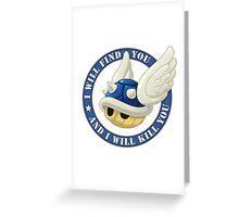 Menacing Blue Shell Greeting Card