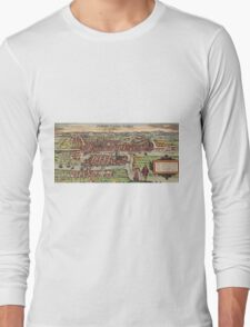 Konigsberg Vintage map.Geography Germany ,city view,building,political,Lithography,historical fashion,geo design,Cartography,Country,Science,history,urban Long Sleeve T-Shirt