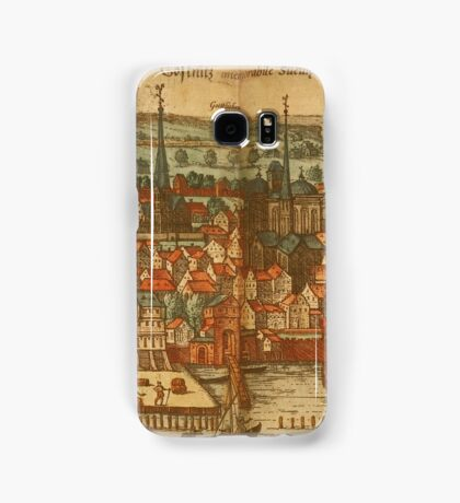 Konstanz Vintage map.Geography Germany ,city view,building,political,Lithography,historical fashion,geo design,Cartography,Country,Science,history,urban Samsung Galaxy Case/Skin