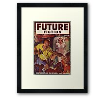 future combined with science fiction Framed Print