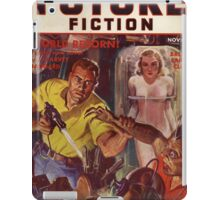 future combined with science fiction iPad Case/Skin