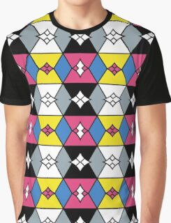 Oriental Inspired Geometrical pattern Graphic T-Shirt