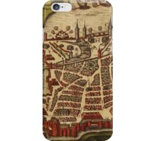 La Rochelle Vintage map.Geography France ,city view,building,political,Lithography,historical fashion,geo design,Cartography,Country,Science,history,urban iPhone Case/Skin