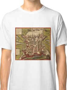 La Rochelle Vintage map.Geography France ,city view,building,political,Lithography,historical fashion,geo design,Cartography,Country,Science,history,urban Classic T-Shirt