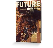 future combined with science fiction Greeting Card