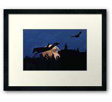 Werewolf - Supermoon Framed Print