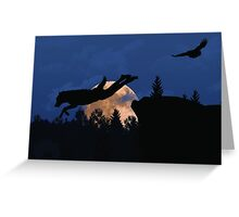 Werewolf - Supermoon Greeting Card