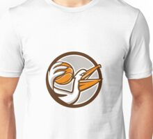 Pelican Dunking Basketball Circle Retro Unisex T-Shirt
