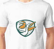 Pelican Dunking Basketball Crest Retro Unisex T-Shirt